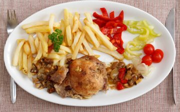 fries-meat-and-vegetable